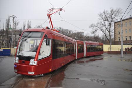 В киевском трамвайном депо