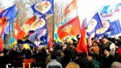 Янукович на митинге, посвященном Дню защитника Отечества