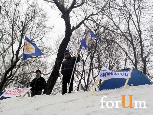 Акция защиты прав украинской молодежи. Пикетирование Кабмина.