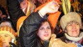 Оранжевые на майдане