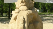 Конкурс песочных скульптур на Трухановом острове