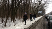 Блокада автомобилистов в Киеве