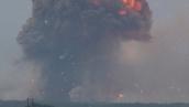 Пожар на складах боеприпасов в Калиновке