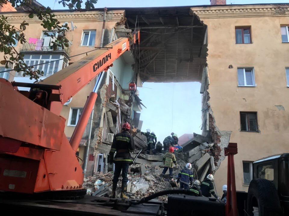 Разрушение дома в Дрогобыче
