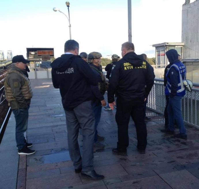 Блокирование моста Метро в Киеве