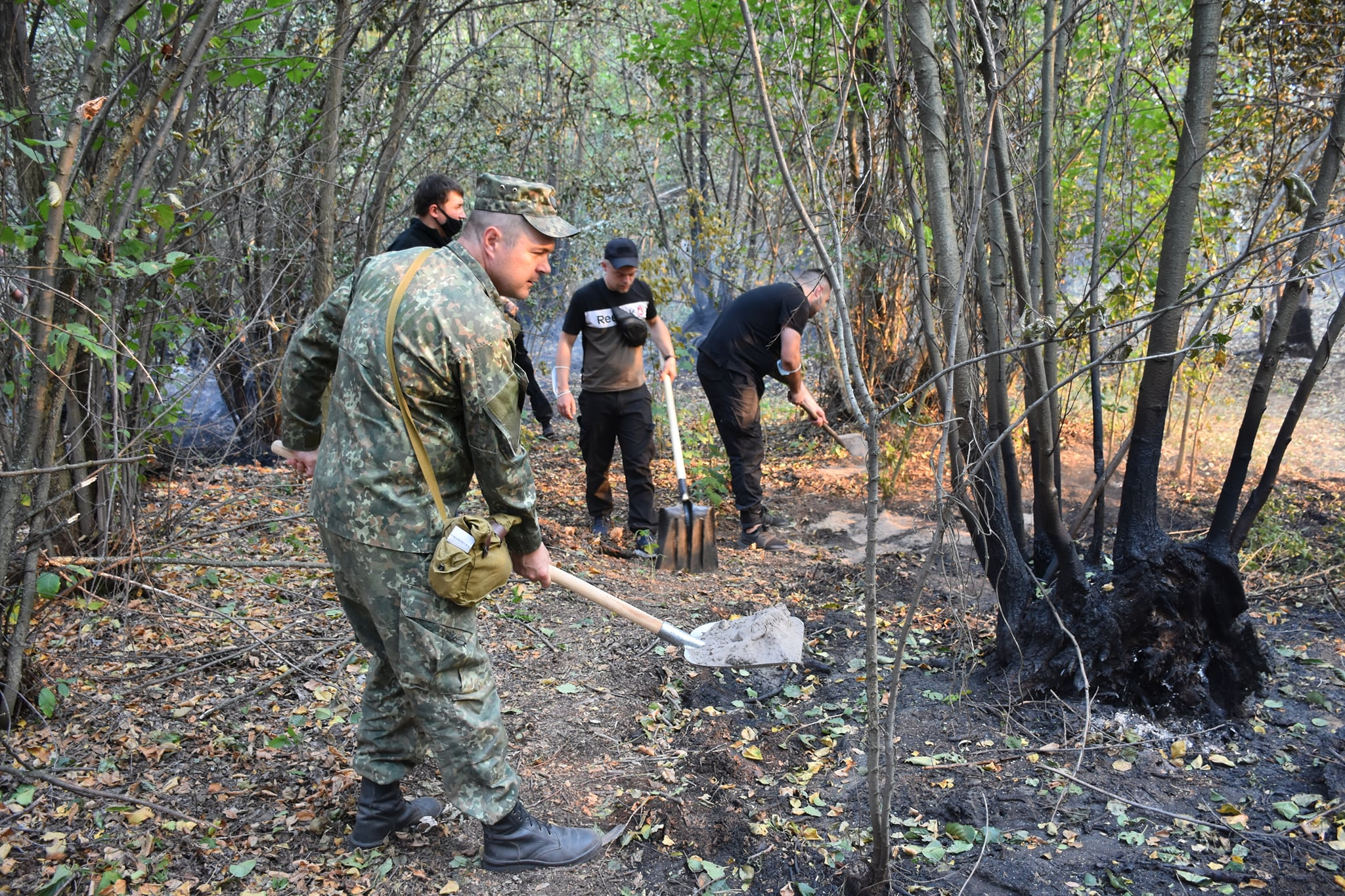 Лесные пожары на Харьковщине и Луганщине