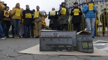 Акция с требованием восстановить работу кинотеатра «Жовтень»