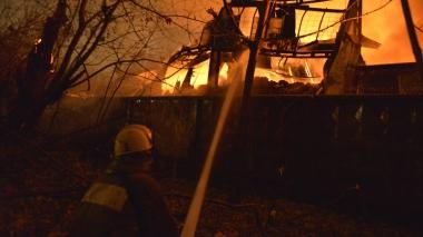 Пожар возле киностудии Довженко