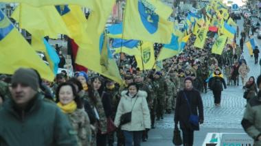 Марш по случаю годовщины Майдана