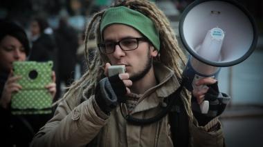 Студенты протестовали против подорожания проезда в транспорте