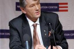 Yushchenko's press conference in Philadelphia