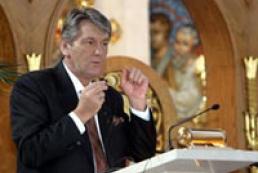 President Yushchenko attended service