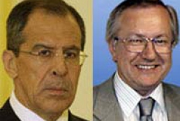Ukraine's Acting Foreign Minister Borys Tarasyuk met with Russian opposite number Sergei Lavrov