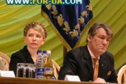 Ratings of Yushchenko and Timoshenko have fallen down equally