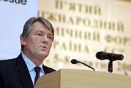 Yushchenko discoursed upon the situation in Ukraine