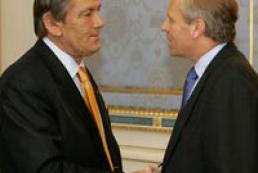 Yushchenko met with NATO Secretary General