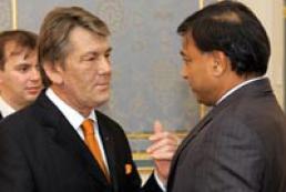 President of Ukraine congratulates Lakshmi Mittal