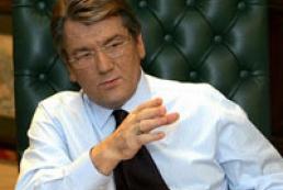 President of Ukraine Victor Yushchenko recieves credentials