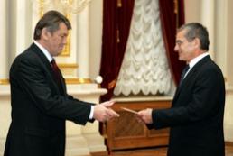President receives credentials