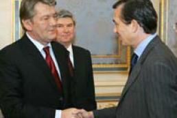 President Yushchenko met Foreign Minister of France