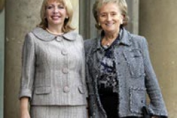 First Lady of Ukraine meets Bernadette Chirac