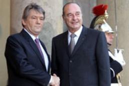 President of Ukraine met Jacque Chirac
