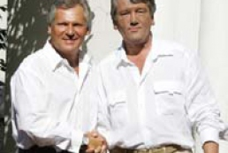 Yushchenko and Kwasniewski have farewell conversation
