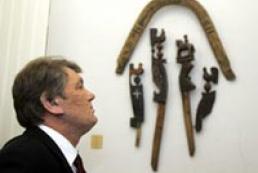 President Yushchenko opened a folk art exhibition