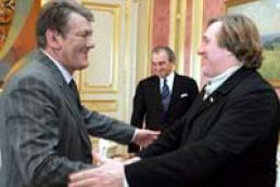 The President of Ukraine met Gerard Depardieu