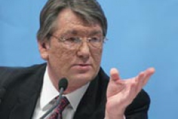 Yushchenko and Tarasyuk held a meeting on foreign policy issues