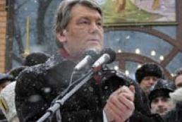 President Yushchenko thanks Ukrainians for birthday greetings