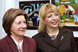 The First Lady of Ukraine met Maria Kaczynski