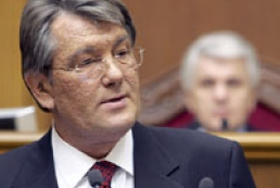 """President Yushchenko: """"The currency market is stable"""""""