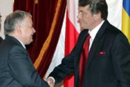 Yushchenko met with Poland President Kaczynski
