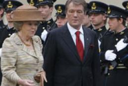 President of Ukraine meets Queen Beatrix of the Netherlands
