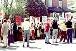 Trade Union Federation holds a protest action
