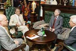 The President of Ukraine met with Speaker Oleksandr Moroz