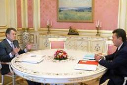 The President of Ukraine met PM Yanukovich
