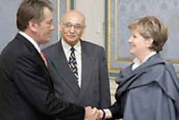President of Ukraine meets Katalin Szili