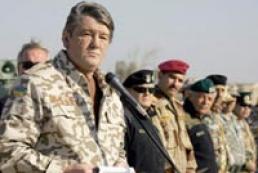 Ukraine's President watching military exercise