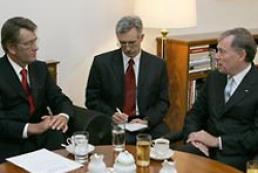 The President of Ukraine meets German President Horst Koehler