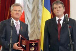Alexander Kwasniewski expressed his full support for Yushchenko's project