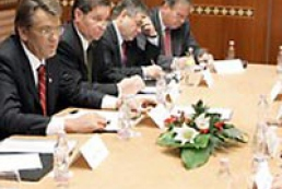 Ukraine's President Yushchenko has met with Hungary's business leaders