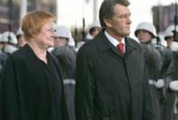 Yushchenko, Halonen preside over talks