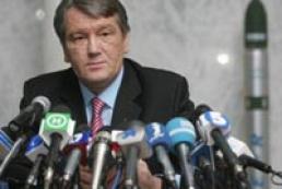 Yushchenko interviewed by Ukrainian TV channels