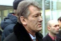 Yushchenko holding meeting with Ivanov