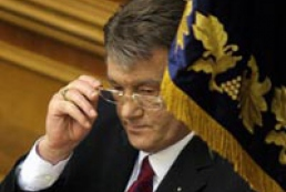 Yushchenko condoles with the widow of the former American President