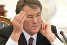 Yushchenko is not satisfied with bill on Cabinet