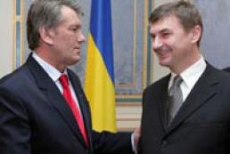 Ukraine President meets Estonia PM