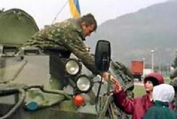 Ukrainian peacekeepers in Kosovo in commission to counteract conflict escalation